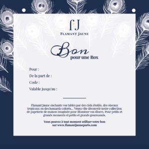 Bon cadeau - Flamant Jaune Paris - Papeterie de maison