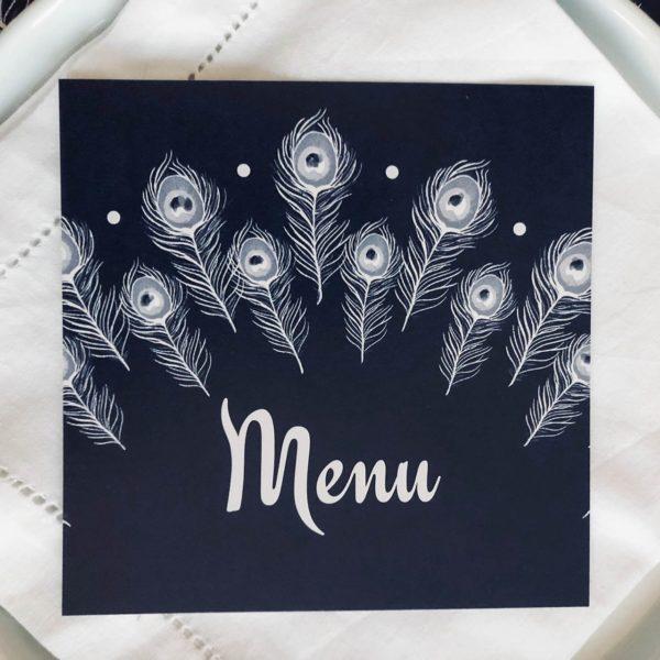 Flamant Jaune - Papeterie de Maison - Arts de la Table - Collection Plumes - Sets de table - Table de fête