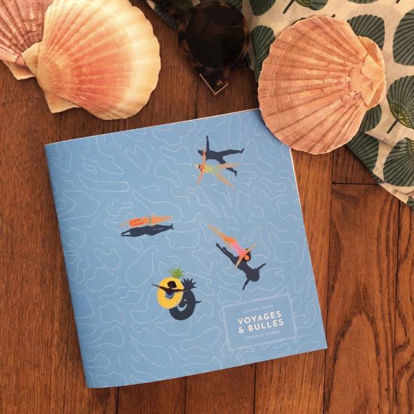 Cahier de voyages Les Baigneuses - Flamant Jaune Paris - Papeterie de maison