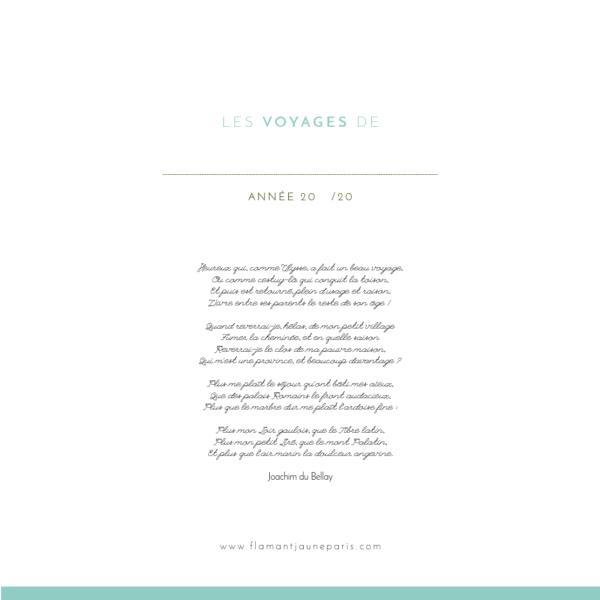 Cahier de voyages Ulysse - Flamant Jaune Paris - Papeterie de maison