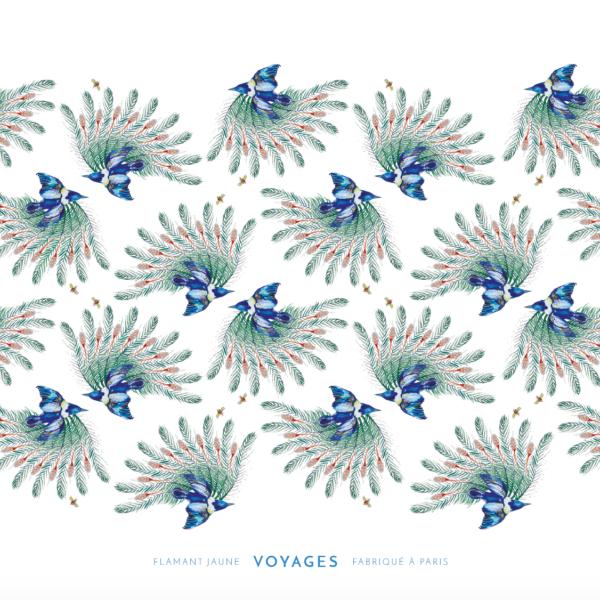Cahier de voyages Mocking Bird - Flamant Jaune Paris - Papeterie de maison
