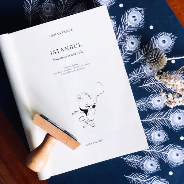 Ex-libris Jean Giono - Flamant Jaune Paris - Papeterie de maison - Sur-mesure