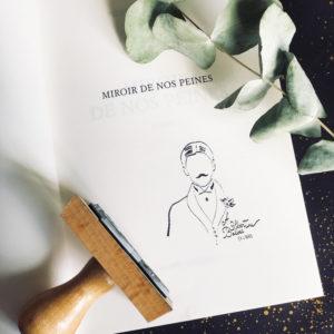 Ex-libris Marcel Proust - Flamant Jaune Paris - Papeterie de maison - Sur-mesure